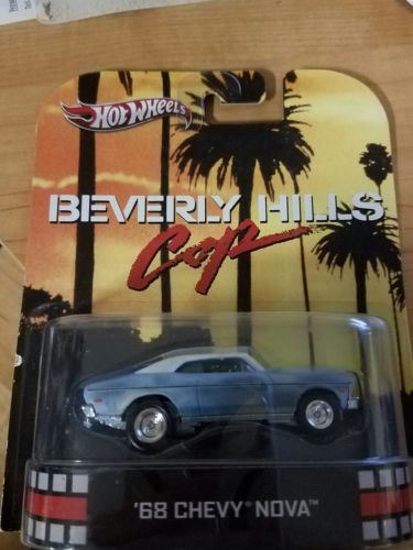 HOT WHEELS 2013 RETRO CLASSIC BEVERLY HILLS COP '68 CHEVY NOVA primer