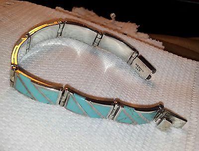 MEXICO 925 silver turquoise bracelet,43 grams