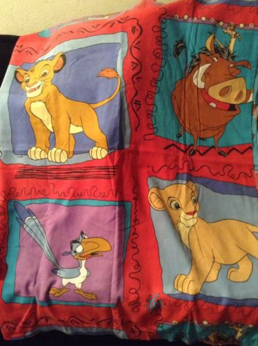 Disney Lion King Twin Set Fitted Flat Sheet  Bedding Craft Fabric A
