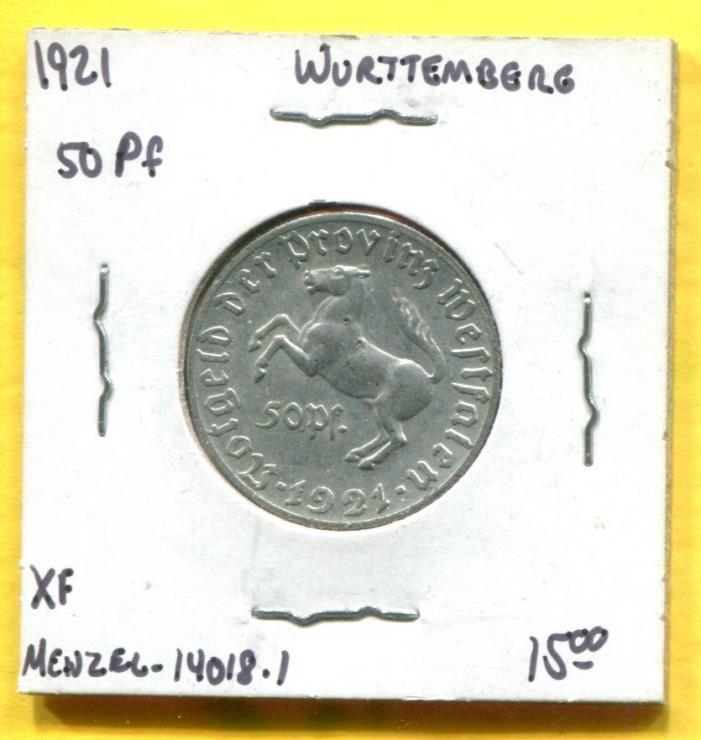 1921 Westfalia 50 Pfennig Notgeld  Menzel-14018.1