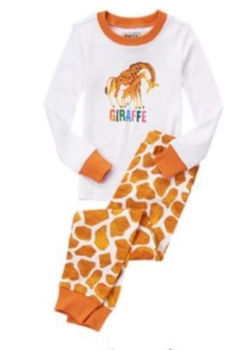 4 T Gymboree Eric Carle GIRAFFE Gymmies PJ's Pajamas Toddler Boy Girl New NWT