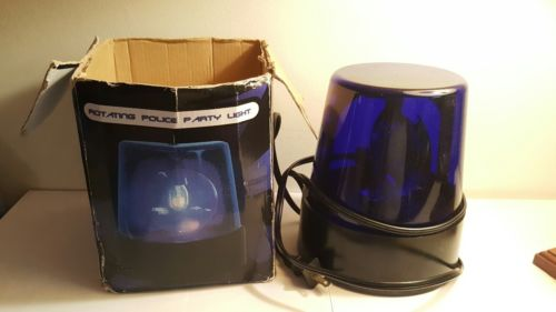 7'' Blue Rotating Police Party Light Very Good Condition