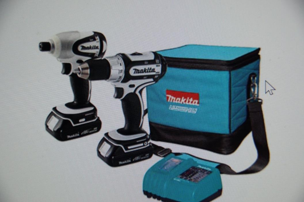 Makita 18v Li-ion cordless combo kit, Impact driver and drill driver LCT200W