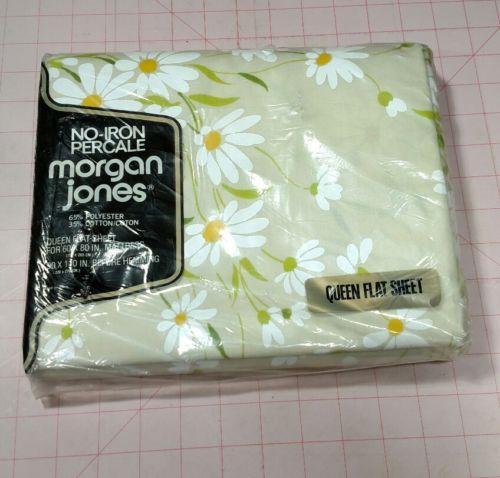 Vintage Morgan Jones Queen Flat Sheet Dainty Daisies