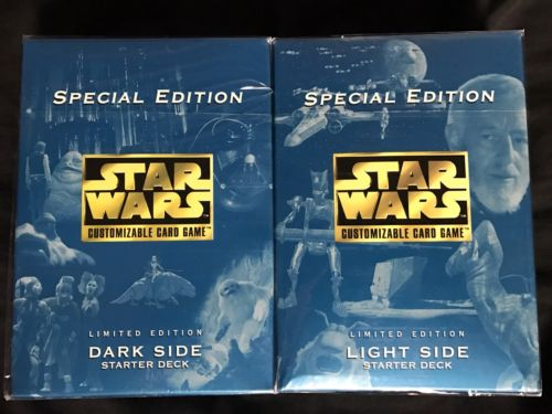 Star Wars Special Edt Light Side+Dark Side Starter Decks (1998) Factory Sealed
