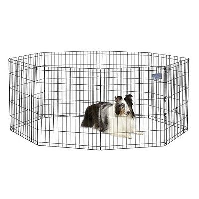 Best Pet Folding Playpen Dog Exercise Pen With Door Midwest Dog Crate Easy Folds