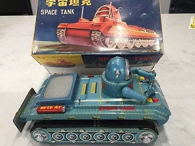 RARE COLOR CHINESE ROBBY ROBOT SPACE TANK ME091 BLUE SALESMAN SAMPLE