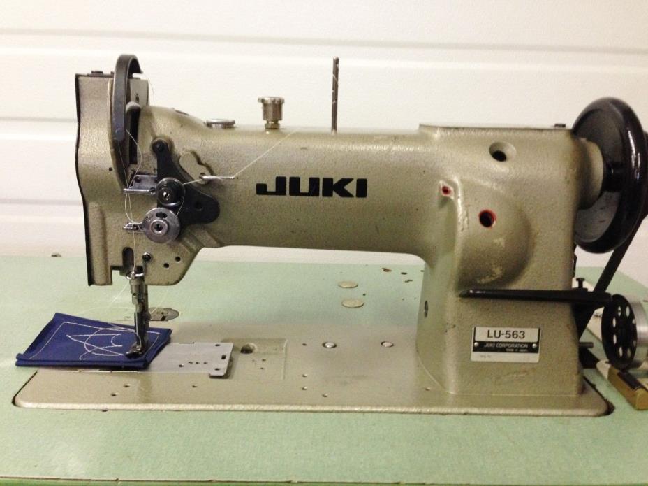 JUKI   LU-563  WALKING FOOT  BIG BOBBIN +REVERSE  110V INDUSTRIAL SEWING MACHINE