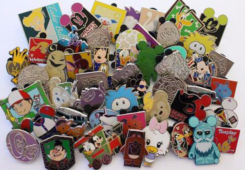 Lot of 50 Disney Trading Pins - No Duplicates - FREE SHIPPING