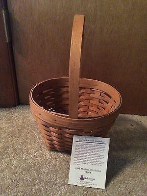 Longaberger 1993 Vintage Mother's Day Basket
