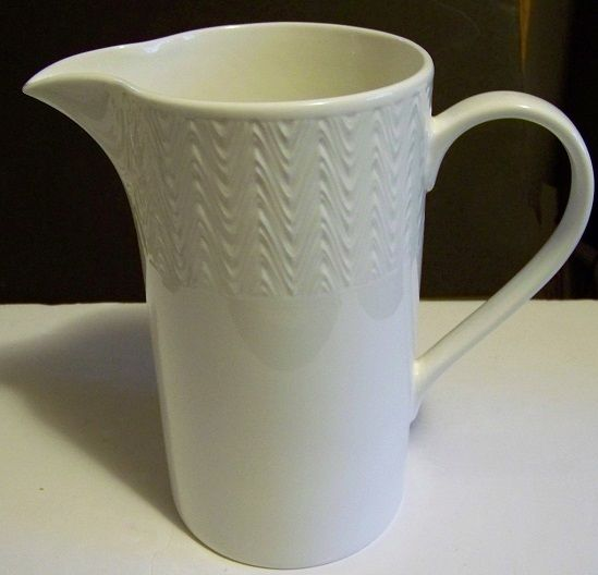 Lenox Ridge Street Pitcher, White