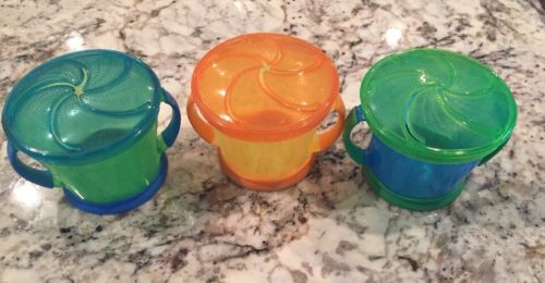 Munchkin Snack Cups Lot Of 3