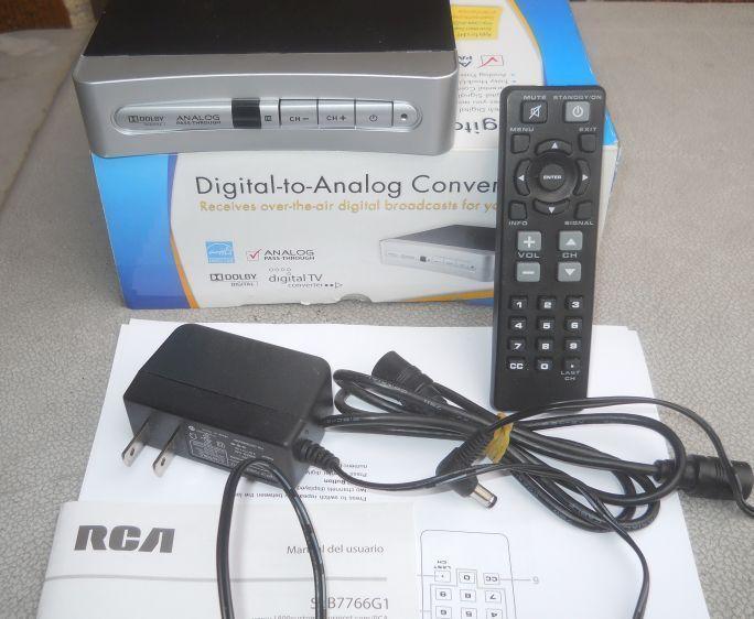 RCA STB 7766G1 Digital to Analog Television Converter Box