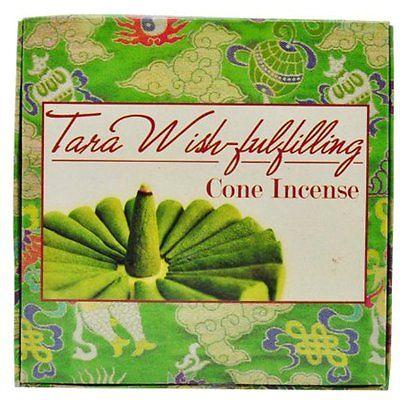 All Natural Wood Tara Herbal Cone Incense, 24 Cones Per Box