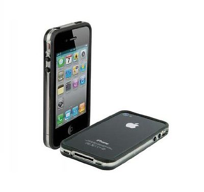 NEW SCOSCHE BANDEDGE CASE FOR IPHONE 4 - CLEAR/BLACK - FITS AT&T IPHONE