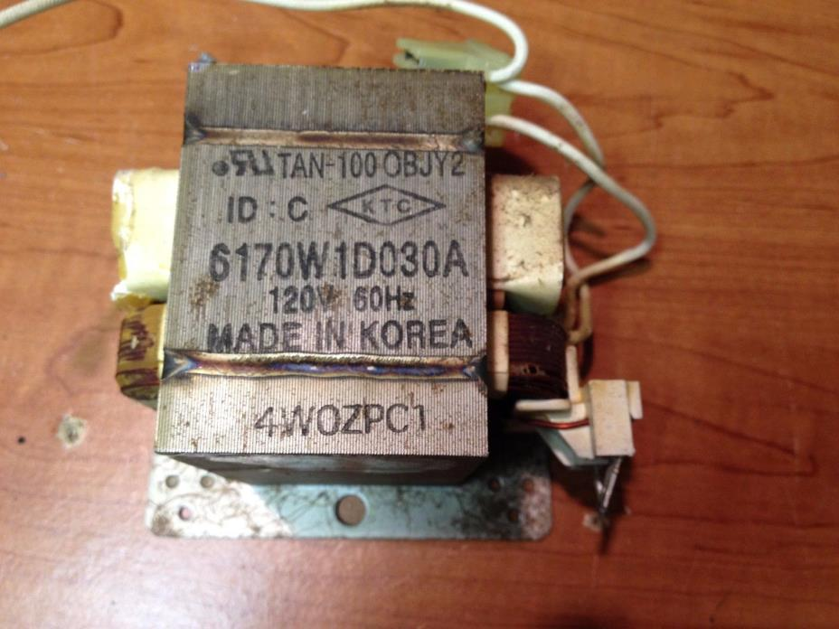 TAN OBJY2    6170WID030A 120V Microwave Oven High Voltage Transformer