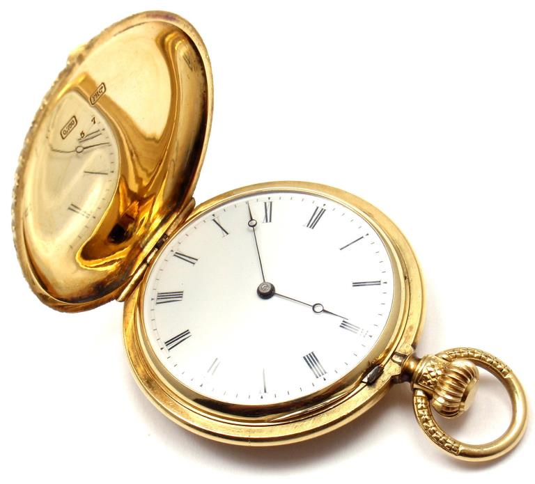 Rare! Vintage Swiss Patek Philippe 18k Yellow Gold Pocket Watch