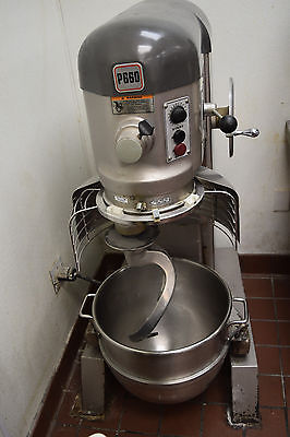 Hobart P660 60 Quart Dough Mixer with  Bowl and Hook Attachment