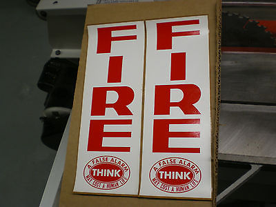 Gamewell Fire alarm Box Stickers