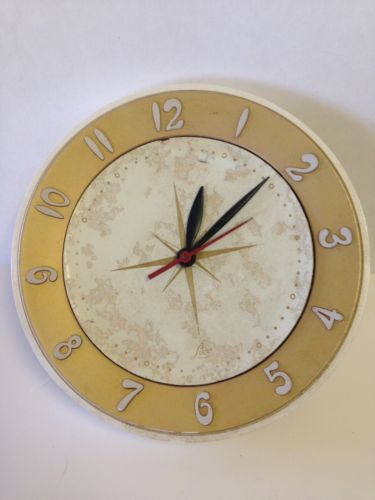 Vintage Mid Century Lux Atomic Starburst Wall Clock Electric