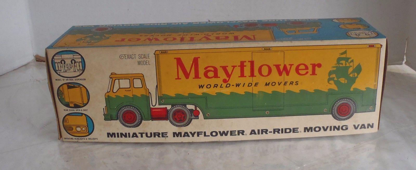 Vintage Mayflower Moving Toy Semi Trailer Truck w box
