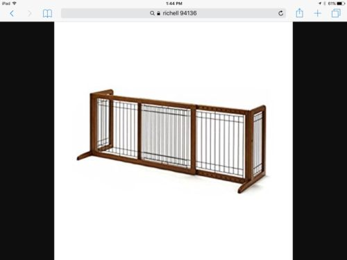 Richell Wood Freestanding Pet Gate Large 39.8
