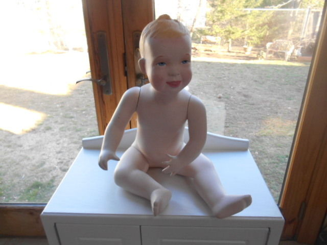 Antique Vintage Baby Child  Manikin Mannequin Display - Dog Not Included -
