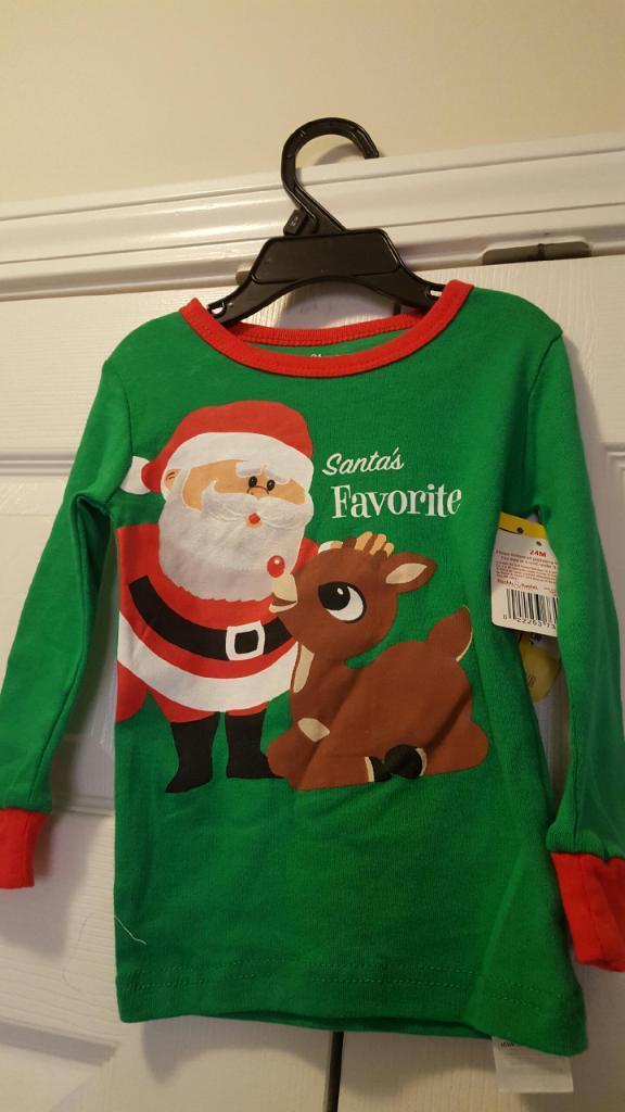 Infants Christmas PJ Shirt size 24months