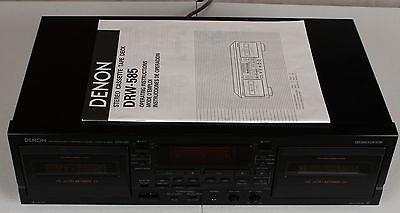 DENON DRW-585 DUAL CASSETTE TAPE DECK