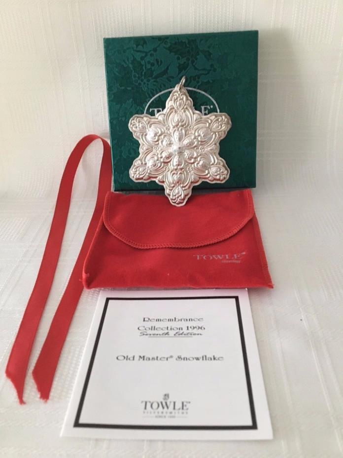 Towle 1996 Sterling Christmas Remembrance Collec