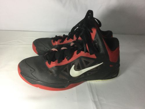 Nike Zoom Men's Basketball Shoes Size 8 (BLACK/SILVER/RED) 536841-001