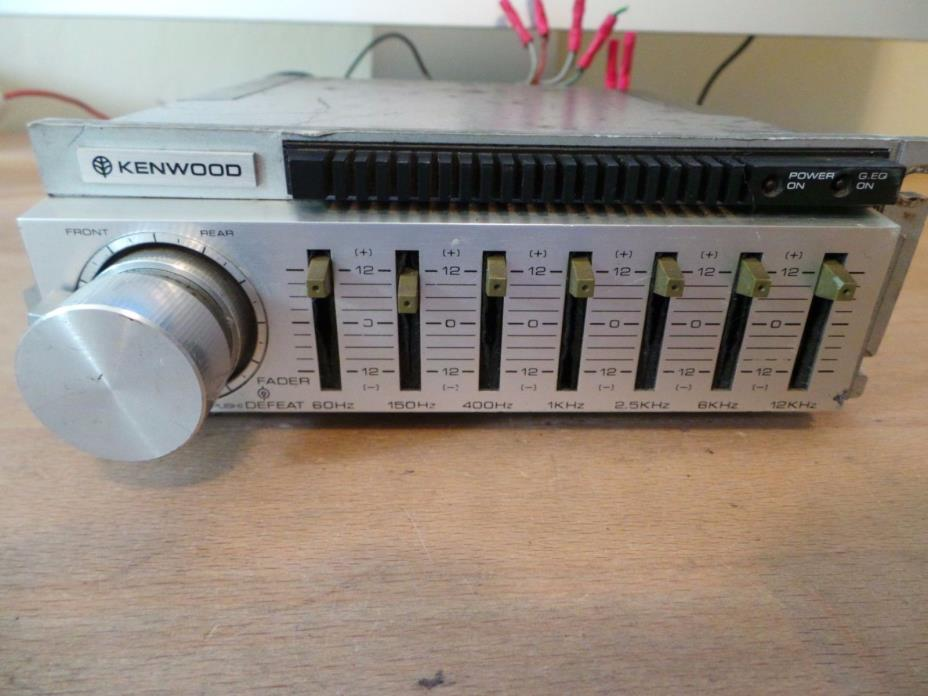 Kenwood Car Equalizer - For Sale Classifieds