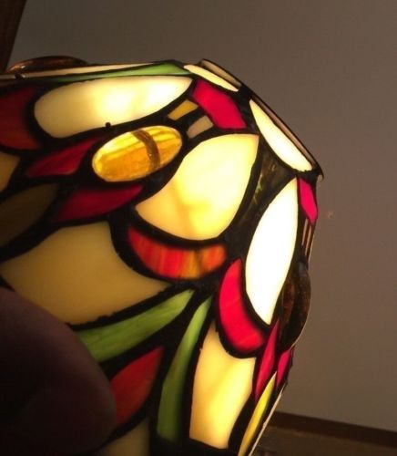 Slag Glass Tiffany Style Stained Glass Lamp Shade