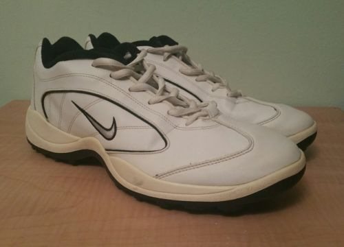 Nike golf cleats sz 9 white and black