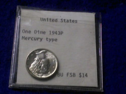 Fantastic 1943-P US Mint Mercury Dime *
