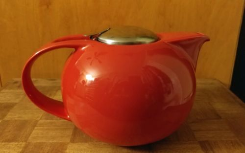 Zero Japan Saturn Teapot Red Teapot 48 oz- Used