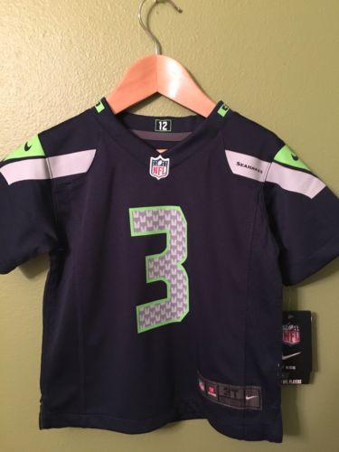 NEW Russell Wilson  Seattle Seahawks Nike NFL Toddler Jersey Size 3T NWT