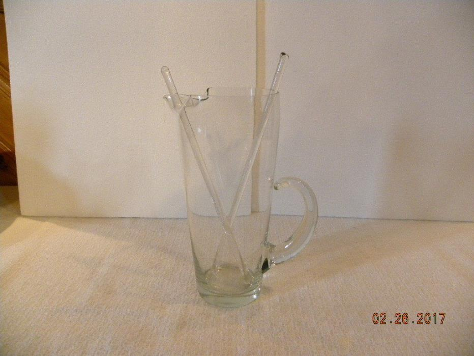 Clear Glass Martini Pitcher