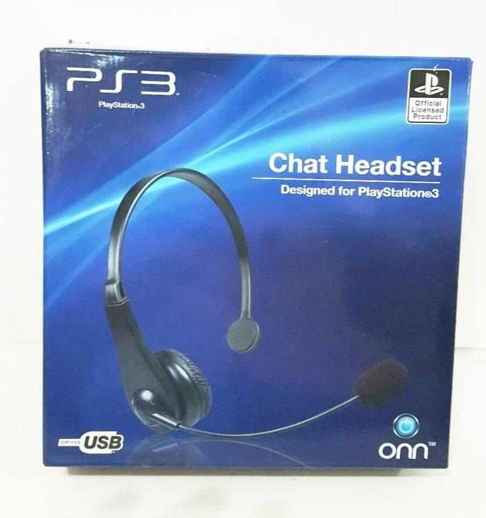 NEW IN BOX PS3 Chat Headset by ONN/PS official licensed product free shipping