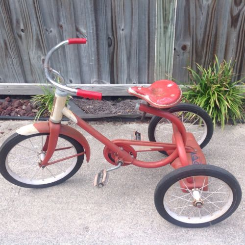 ORIGINAL VINTAGE TRICYCLES 1950'S-60'S MURRAY WITH CHAIN