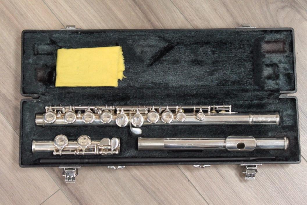 Yamaha YFL-221 Nickel Silver Flute with Yamaha original case