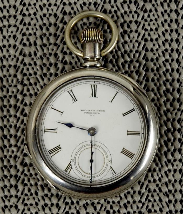 Independent Watch Co Fredonia NY Howard Bros Pocket Watch 18S KW KS Coin Silver