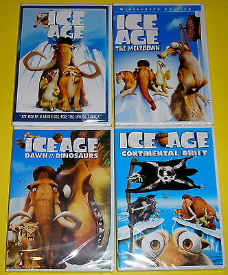 Kid DVD Lot - Ice Age Quadrilogy (New)