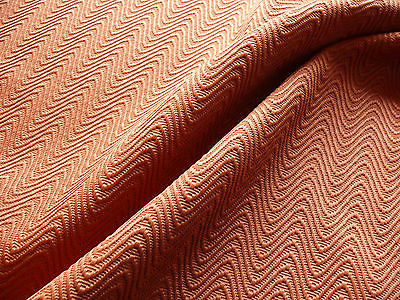 SCALAMANDRE SAMBA PUMPKIN ORANGE TEXTURED COTTON/RAYON BTY MSRP$90