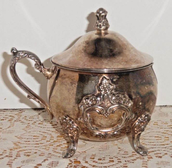 Vintage Towle #4772 Silverplate Sugar Bowl With Lid