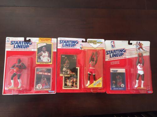 Michael JORDAN 1988 1990 1993 Starting Lineup Lot Chicago Bulls ROOKIE Unopened