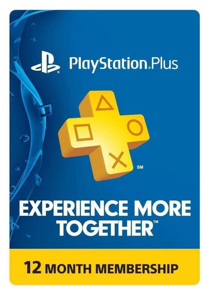 PlayStation Plus 1 year / 12 months Membership - PS3 / PS4 / PS Vita