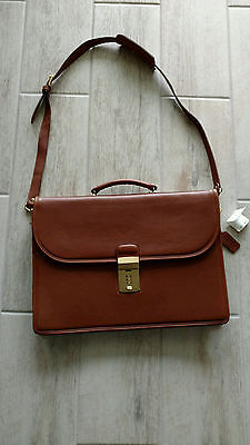 coach diplomat all leather briefcase