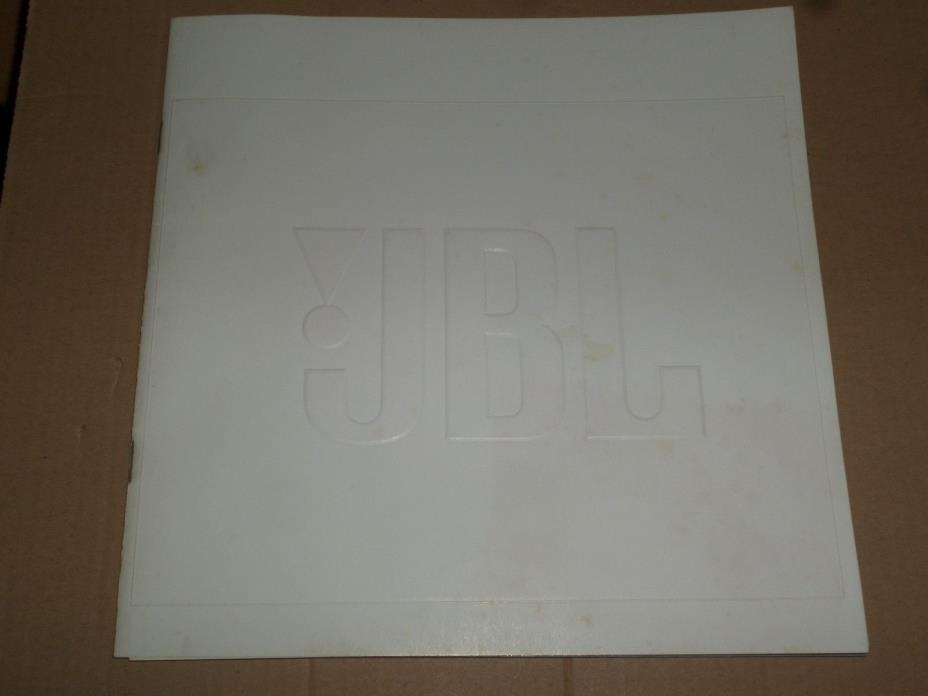 VINTAGE 1971 JBL SPEAKER CATALOG AD BOOKLET WIITH PRICE CARD