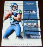 Russell Wilson Prestige Rookie Football Card